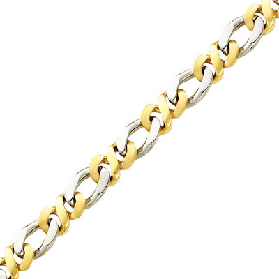 Two-tone Gold Mens Chain