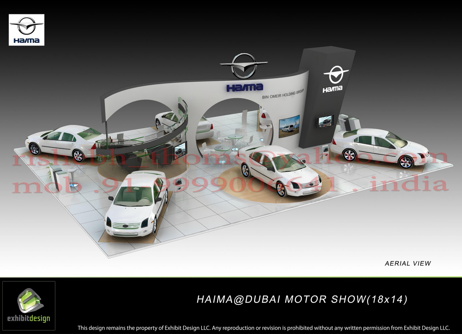 Pramod Design Dubai Car Exhibitions Event Desgn