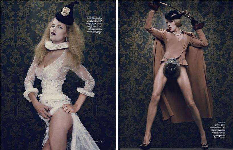 Vogue Russia December 2010 Fashion Editorial Decadence