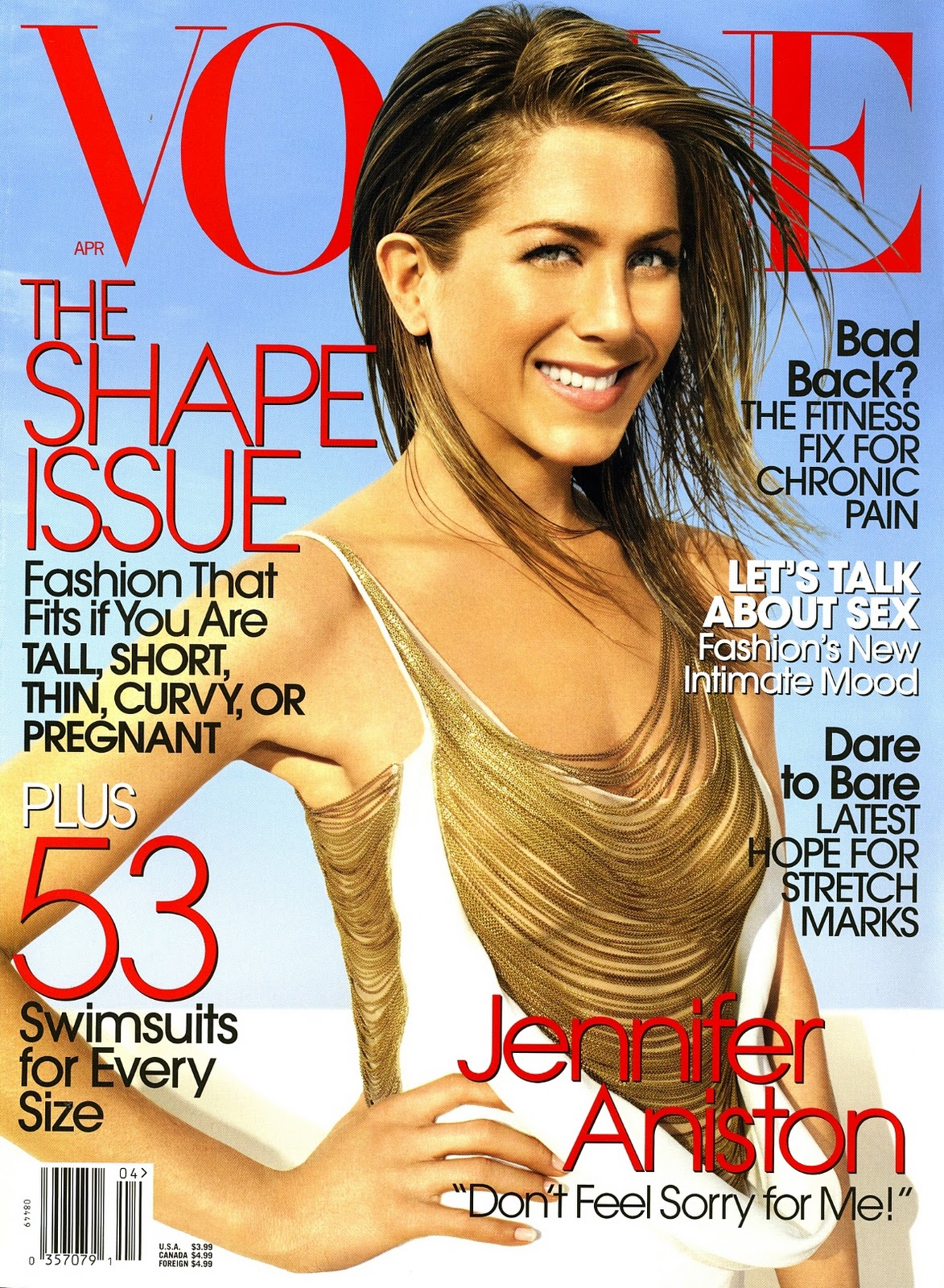Fashion Flashback: Jennifer Aniston Covers Vogue April 2006