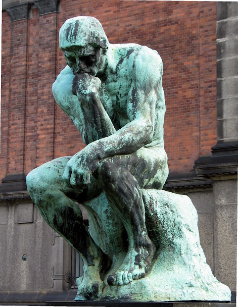 Public Domain And Thinker Sculpture