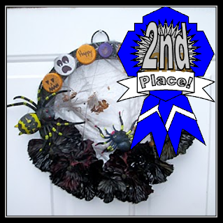 Recycled Halloween Craft Challenge 2nd Place Winner!