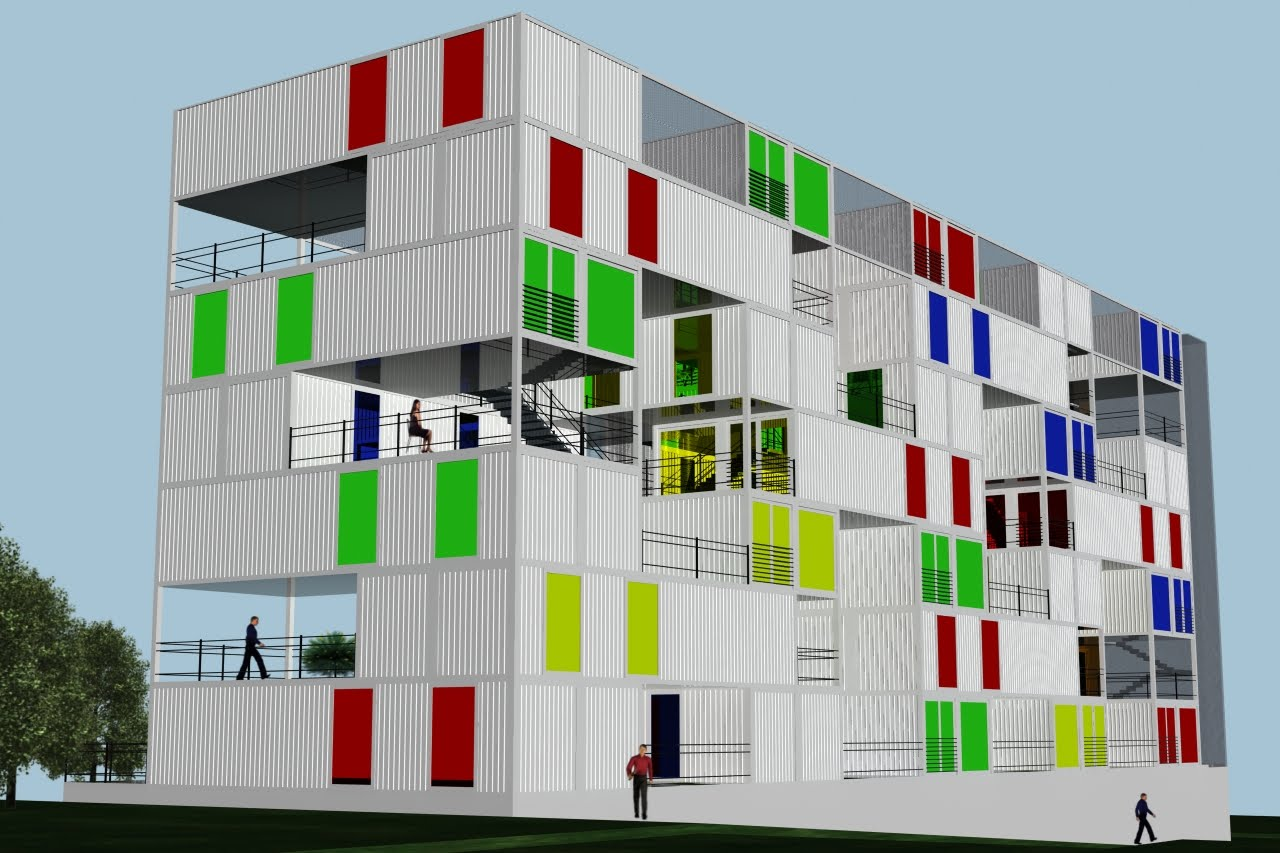 Tercera piel contenedores habitables agrupaci n espacial de vivienda social contenedor 10 - Vivienda contenedor maritimo ...
