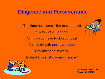 5a S Class Blog How I Can Show Diligence And Perseverance