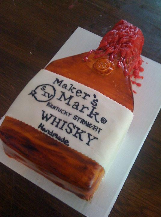 Makers Mark Birthday Cake