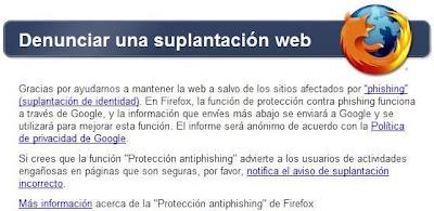 phishing denunciar