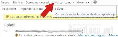 denunciar phishing hotmail