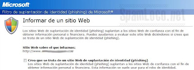 phishing en IE