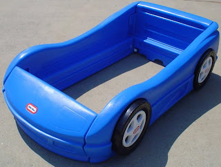 Race Car Bed: Little Tikes Toddler Bed $50
