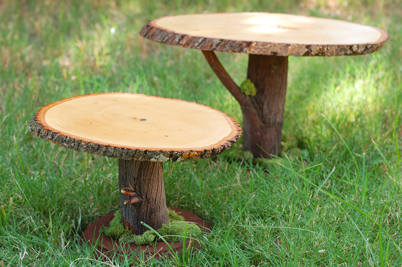 Tradewind Tiaras: DIY Project: Rustic Wooden Cake Stands from the ...