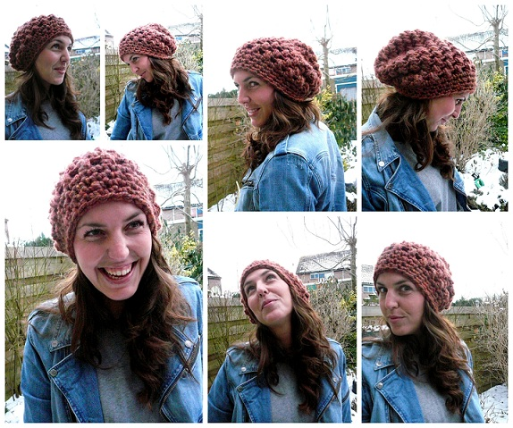 Lindevrouwsweb Crochet Puff Stitch Hat
