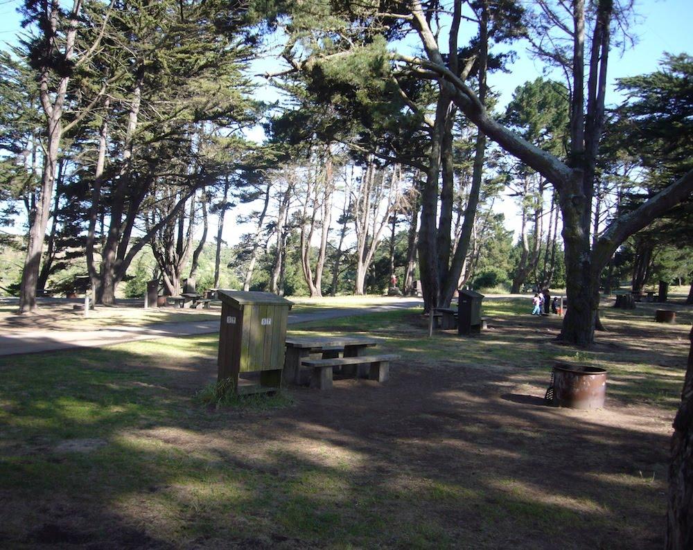 Sunset Beach Camping Near Santa Cruz Ca