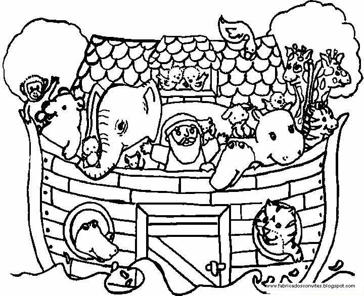 Dibujos Religiosos Para Colorear E Imprimir: Fábrica Dos Convites: Arca De Noé