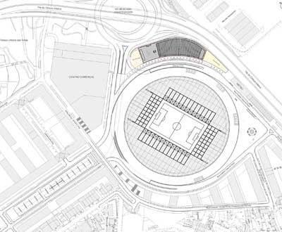 estadio do bessa mapa Reflexão Portista: Novo pavilhão: o projecto e as obras estadio do bessa mapa
