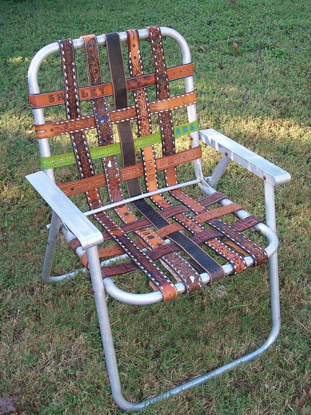 kikithespunkymunky Vintage Aluminum Folding Lawn Chair Re