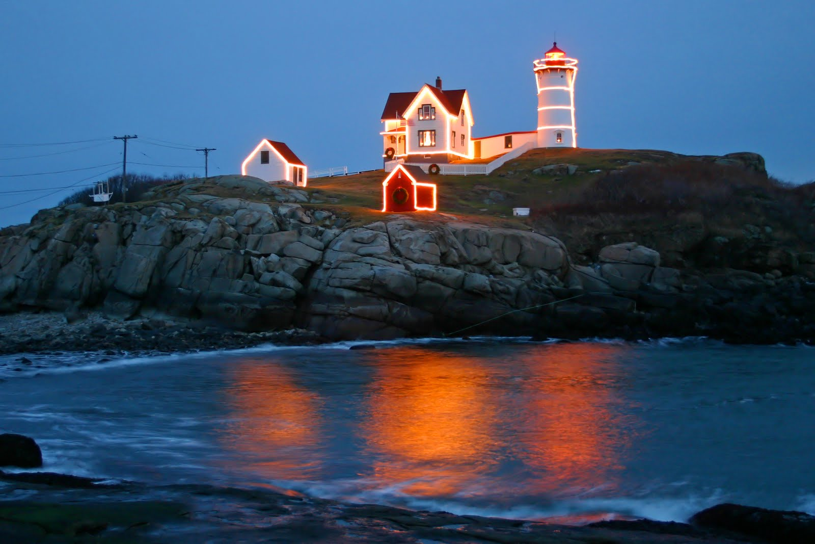 New England Lighthouses: Lighting of the Nubble Today!