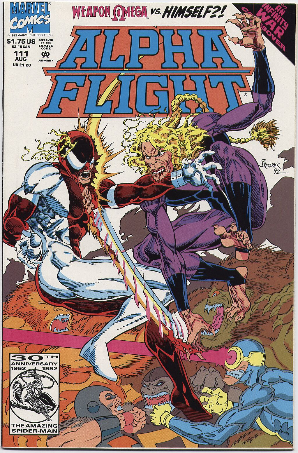 Read online Alpha Flight (1983) comic -  Issue #111 - 1