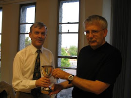 Receiving Maynah Lewis Cup from Martin Edwards. 2009