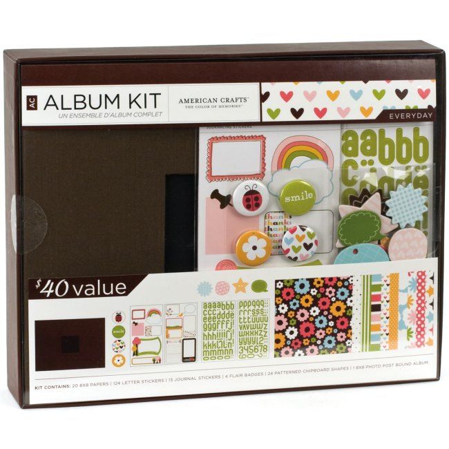 Weekend kits blog themed scrapbook kits for beginners for American crafts page protectors 8x8