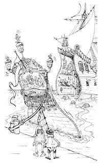 Change of activity and Sergio Aragonés Ship art page