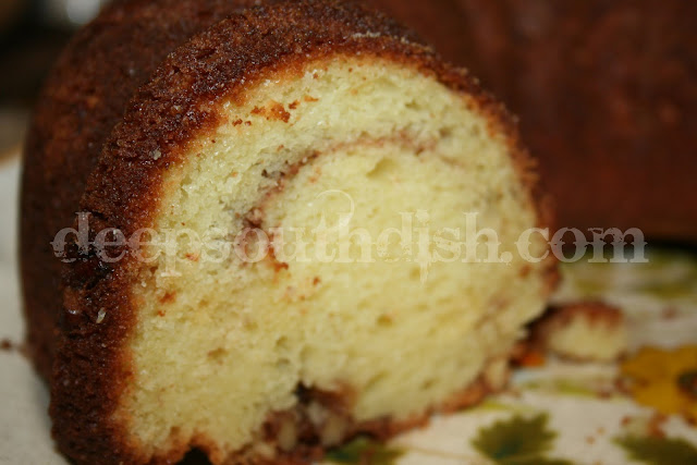 A delicious coffee cake known as Sock it To Me Cake, has the usual attendees of brown sugar, pecans and cinnamon, but, unlike most coffee cakes, it actually gets better as it sits - not that it'll be around that long.