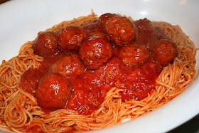 A great spaghetti sauce, made with onion, garlic, stewed and Rotel tomatoes, Italian and Cajun seasonings, and a little help from canned sauce, but tastes like you cooked it from scratch.