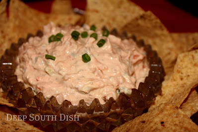 Cream Cheese and Sour Cream Dip with Shrimp and Picante Sauce
