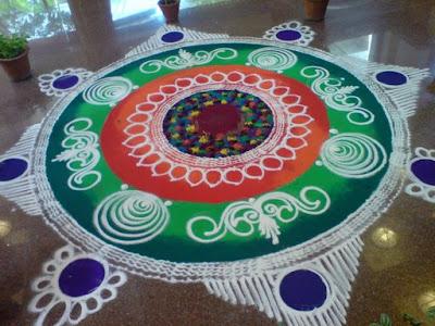 Beautiful Rangoli Designs Flower Patterns Festival Rangoli