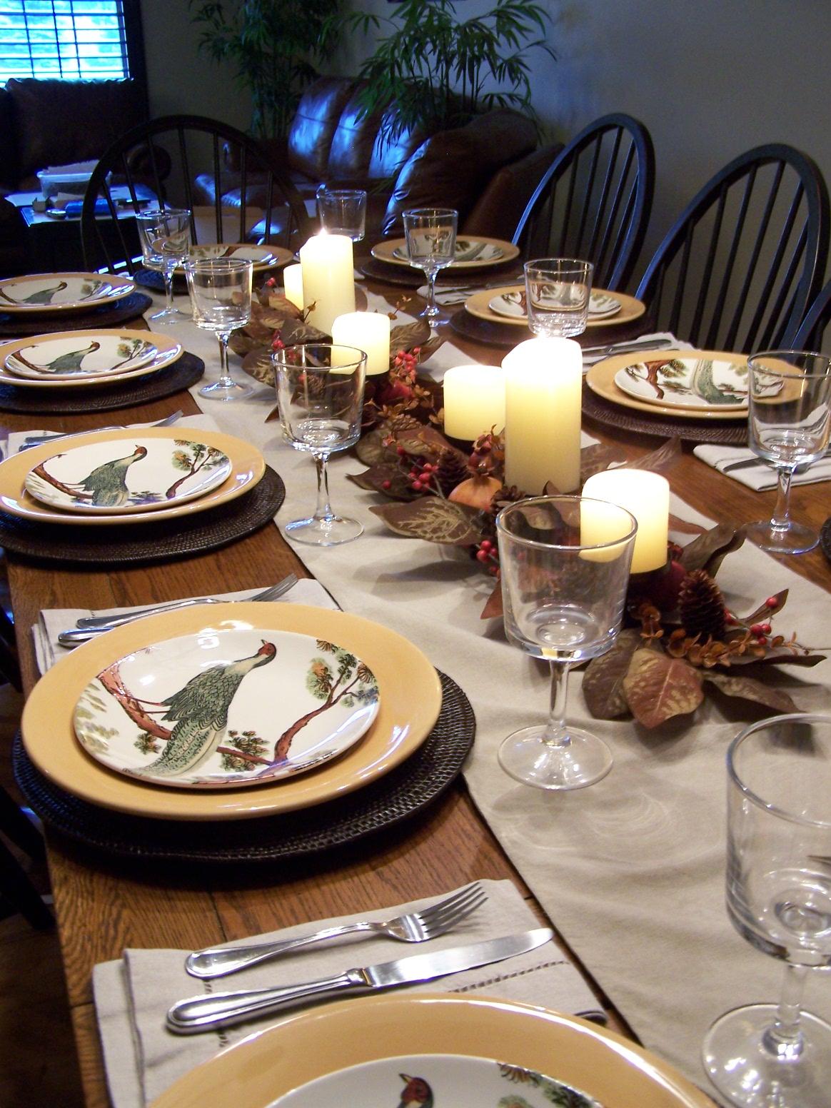 Set Table For Thanksgiving Dinner