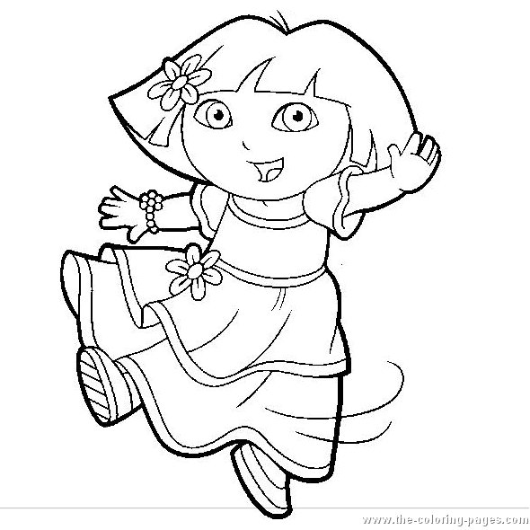 Coloring blog for kids dora coloring pages for kids for Dora the explorer coloring pages online free