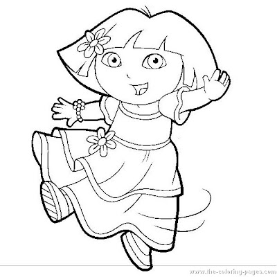 Coloring Blog for Kids: Dora coloring pages for kids