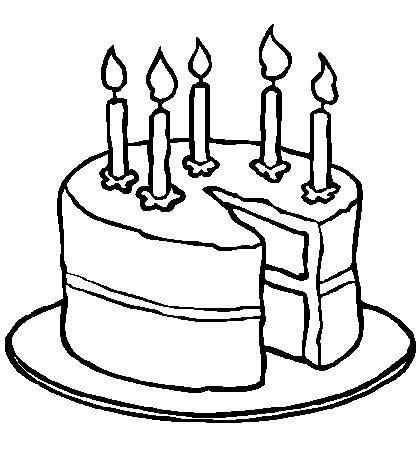Birthday coloring pages for kids ~ Coloring