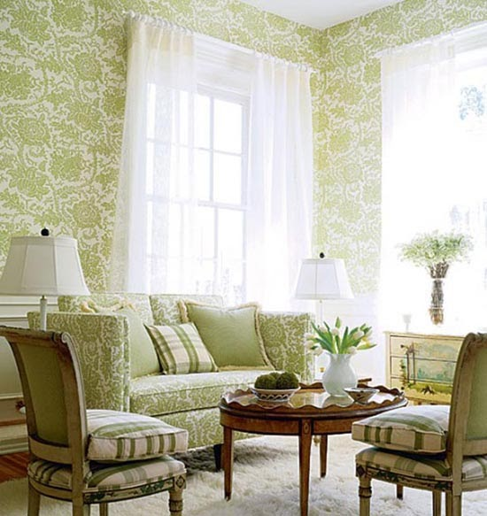 Interiors: Classic Room Wallpapers Design