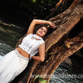 Meghana Raj Showing hot Navel and Armpit in Wet dress