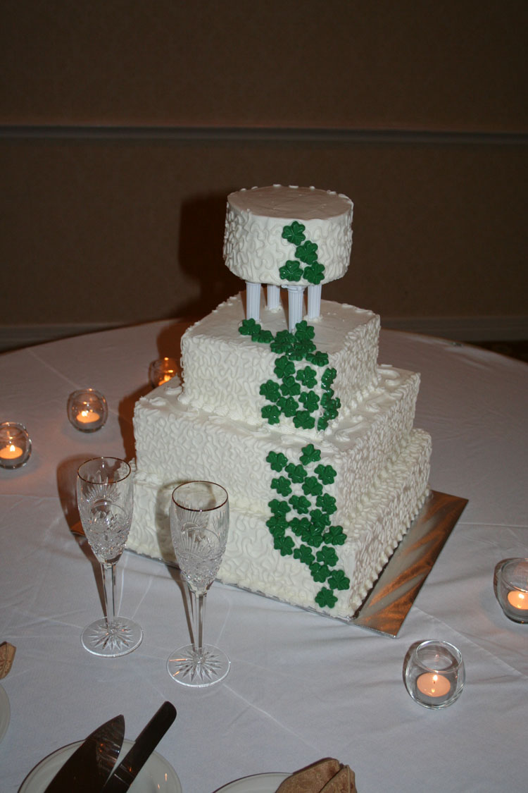 the business of weddings my shamrock cake was featured. Black Bedroom Furniture Sets. Home Design Ideas