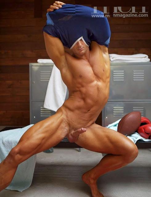 Bulge Naked Jock Locker Room fodboldspiller-3329