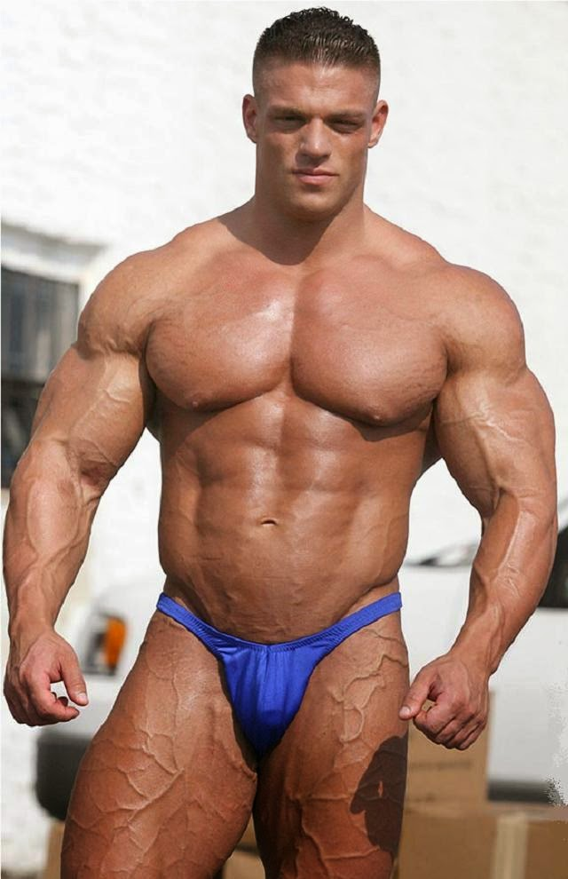 Angry Bodybuilder Naked Torso Stock Photo (Edit Now