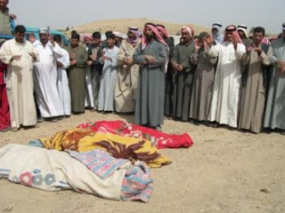 Victims of US air strike, Balad, March 2006.