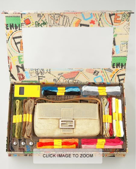 Fendi Has Taken Their Classic Baguette Handbag Originally Created In 1925 And Turned It Into A Needlepoint Kit Karl Lagerfeld Is The Creative Director