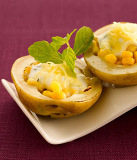 Minty Baked Potatoes