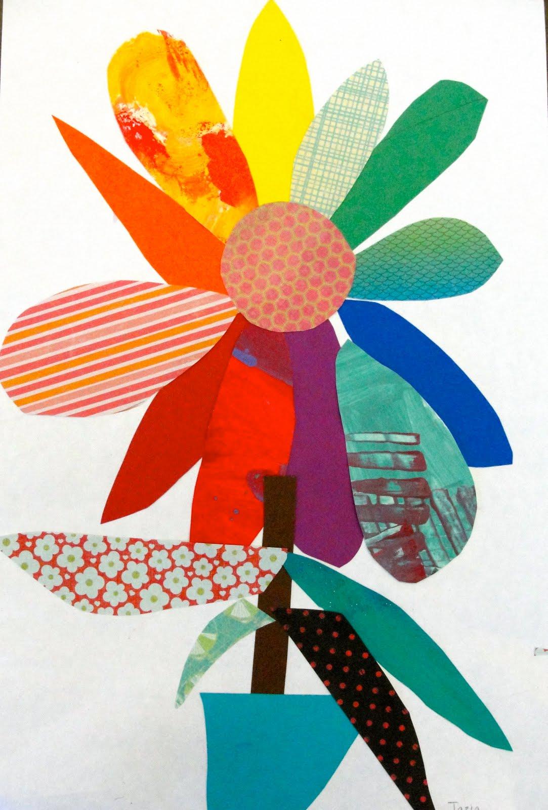 Colorwheel Bouquet Art Lesson