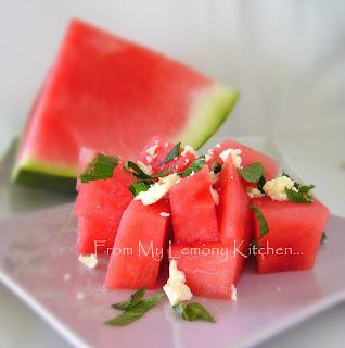 Watermelon, Feta and Mint