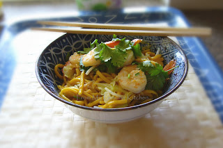 Noodle and Prawn Stir Fry.