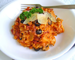 Chicken Cacciatore with olives Risotto
