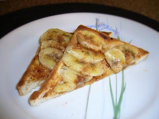 Breakfast with Banana Triangles