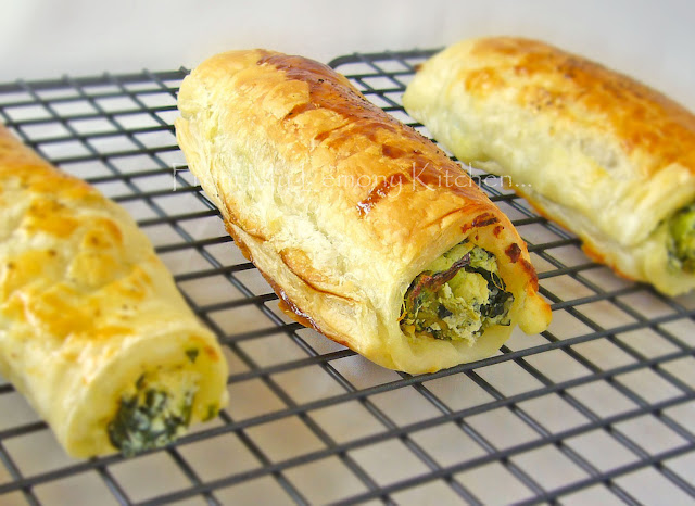 Tasty Feta Ricotta and Spinach Roll