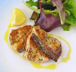 Fish with Blood Orange Olive Oil