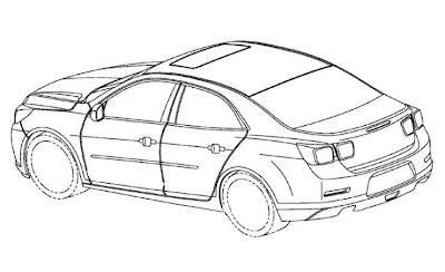 Chevrolet Malibu 2012 tem desenhos publicados