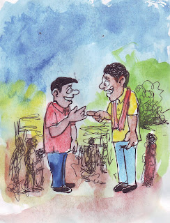 Bhuter golpo cartoon drawings