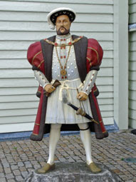 Henry VIII, outside the Mary Rose Museum